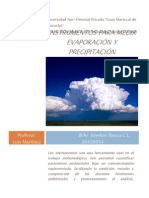 Instrumentos para medir evaporación y precipitacion