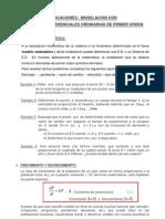 APLICACIONES- modelación de las ED de  primer orden