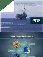 Análisis sociedad distributiva Renta petrolera