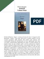 76853608 Michel de Montaigne Saggi Volume Primo