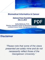 Biomedical Informatics and Cancer