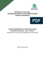 Projeto Pedagógico 2010_2012_ECOLOGIA