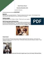 Kelty Primary December 2012 Newsletter