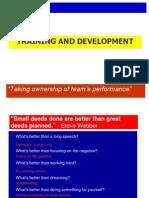 8. Training and Development
