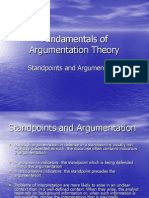 Fundamentals of Argumentation Theory Curs 3 (Standpoints and Argumentation)