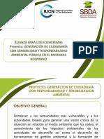 ALIANZA PARA LOS ECOSISTEMAS Proyecto