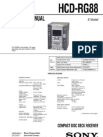 SONY service manual HCD RG88