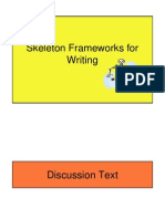 Skeleton Frameworks for Writing