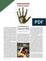 IX Marcha indígena y sus efectos en el conflicto del TIPNIS