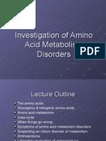 Investigation of Amino Acid Metabolism Disorders Series 1