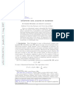 Asymptotic Data Analysis on Manifolds