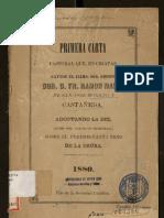 Obispo Ramón María de San José Moreno y Castañeda, 1 pastoral (1880)