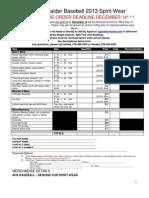 2013 Spiritwear Order Form 120212