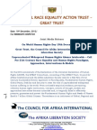Call for Constructive Changes on 64th Anniversary of the Universal Declaration of Human Rights, 10th December 2012 - Joint Media Release - GREAT Trust, Council for Afrika Int & Afrika Liberation