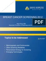 Breast Cancer Screening- Personalized Strategies