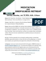 1-12-13 Half-Day Meditation Retreat