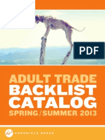 Chronicle Books Adult Trade Backlist Spring 2013