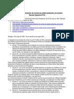 Reglamento Para Normas de Calidad Ambiental y de Emision