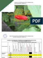 BOLETÍN AGROMETEOROLOGICO Decadal Nº 359-Para la eco región del NORTE INTEGRADO y LA CHIQUITANIA-1er Decadal de DICIEMBRE del 2012