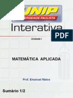Matemática_Aplicada_SLIDE Unidade I