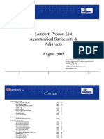 Lamberti Product List Agro Surf Act Ants & Adjuvants Aug 1 2008