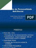 Transtorno de Personalidade Anti - Social