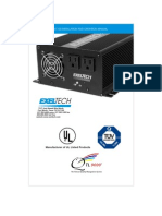 Exeltech XP1100 Inverter Manual