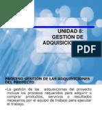 UNIDAD 8 GESTIÓN DE ADQUISICIONES 2012