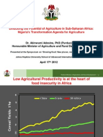Nigerian Agr Transformation agenda