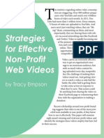 Strategies for Effective Non-Profit Web Videos