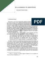 5. EL ORIGEN DE LA ENERGIA EN ARISTÓTELES, RICARDO YEPES STORK (Energeia)