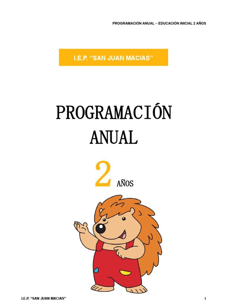 modelo de programacion de 2 años