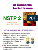 3. Social Concerns and Social Issues