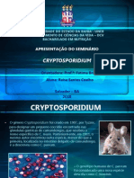 Parasitologia - Cryptosporidium