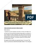 Who Led King David Up the Stairs