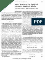 Electromagnetic Scattering by. Stratified Inhomogeneousmedia
