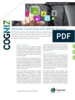 Nomadic Computing with Mobile Devices