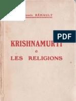 Krishnamurti et les religions, par Ludowic Réhault