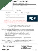 Pledge Form