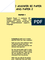 UPSR ENGLISH PAPER 1 AND PAPER 2