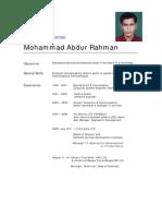 Abdur Rahman Cv Telecom Professional