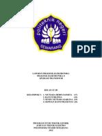 laporan praktek elektronika aplikasi transistor