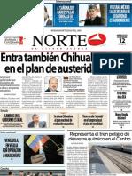 Periodico Norte de Ciudad Juárez 12 de Diciembre de 2012
