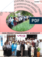 Zest Program - Commercial Agriculture Cash Project Phase One Stakeholder's Workshop Ppt - Brian m Touray -Vso-cuso-usaid-uwamwima-cordaid-zanzibar