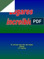 LUGARES INCREIBLES