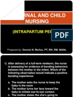 Maternal and Child Nursing - Intrapartum Period