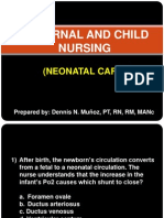 Maternal and Child Nursing - Neonatal Care
