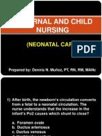 Maternal and Child Nursing - Neonatal Care