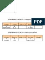 ACTIVIDADES COMEDOR 2012-2013 INFANTIL