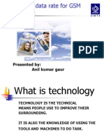 29522011 PPT Presentation of EDGE Technology by ANIL KUMAR GAUR